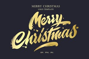 Merry Christmas Logo Template