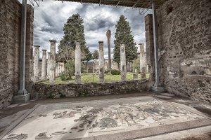 ruins of Pompeii town, Italy