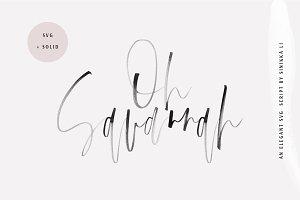 Oh Savannah | SVG Script Font
