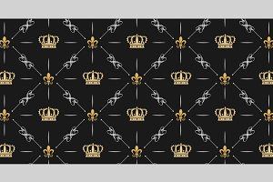 Royal pattern dark background