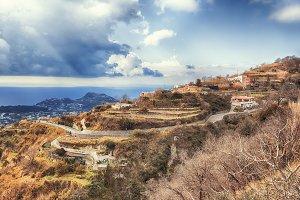 landscape of  Ischia island in Italy