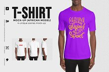 T-shirt Mock-Up (african Model)