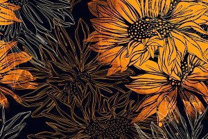 abstract flowers pattern | JPEG
