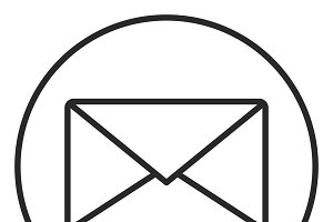 Mail stroke icon, logo illustration