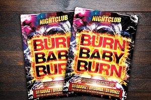Burn Baby Burn Party Flyer