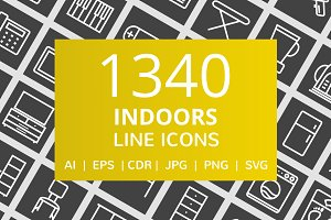 1340 Indoors Line Inverted Icons
