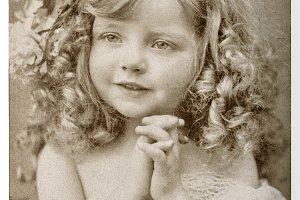 CUte little girl Vintage portrait