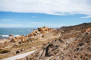 Mediterranean coastline landscape