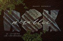 Metallic Rock – 3D Lettering