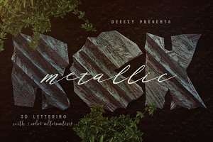 Metallic Rock – 3D Lettering