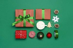 Gift boxes Christmas presents Xmas