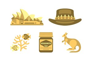 Australian national symbols set
