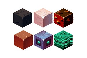 Vector set of isometric blocks with