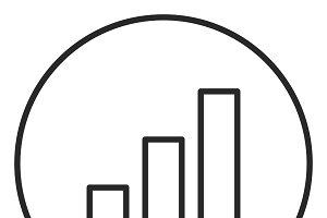 Chart stroke icon, logo illustration
