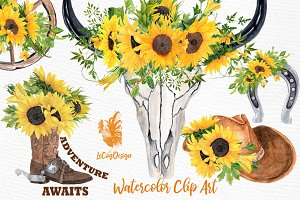 Sunflower Clipart, WESTERN CLIPART