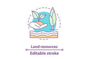 Land resources concept icon