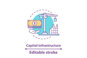 Capital infrastructure concept icon