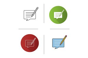 Writing message icon