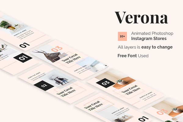 Instagram Templates: desvibes - Verona Animated Instagram Stories