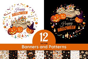 Halloween Banners and Patterns