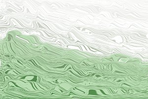 Green and white abstract.