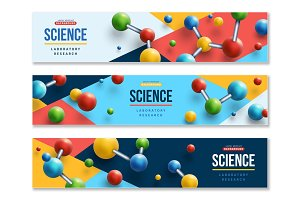 colorful 3d molecules illustrations creative market