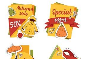 Autumn sale offer banner for website