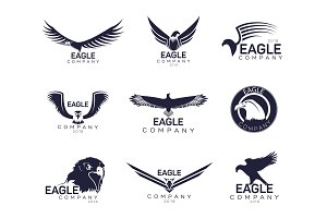 Eagles or hawk, falcon signs