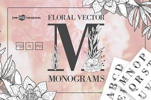 Floral Vector Monograms