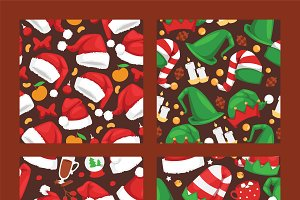 Christmas Santa Claus red hat vector