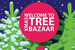 Christmas winter tree bazaar sale