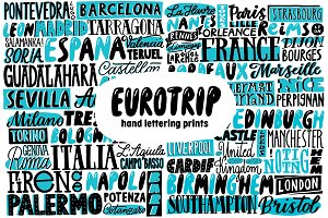 """Eurotrip"" Hand Lettering Prints"
