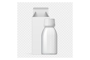Cool Realistic white Cosmetic bottle