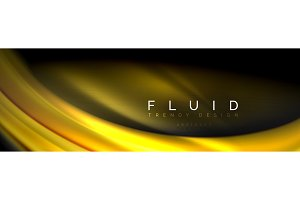 Fluid color wave line background