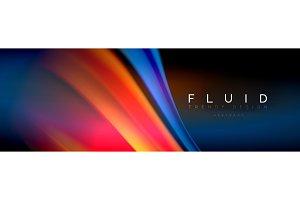 Fluid color wave line background