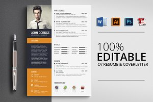 Clean Job CV Resume Word Template
