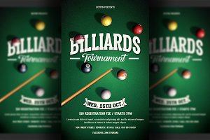 Pool Billiards Flyer Template