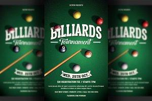 Pool Billiards Flyer Template