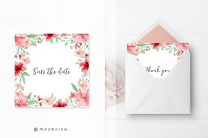 Floral Vector BG, Invitation 03