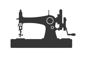 Vintage Sewing Machine Icon