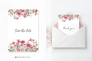 Floral vector BG, invitation 04