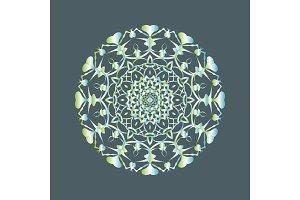 Floral round decorative symbol