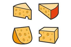 Cheese Icon Set