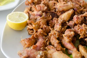 deep fried chipirones or squids