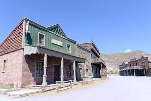 typical street on wild west town