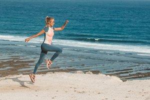 girl doing sports running