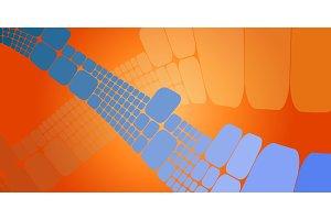 Square blue orange wave gradient