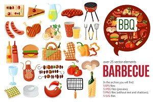 Barbecue Cartoon Set
