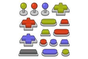 Joystick and Gamepad Buttons Set