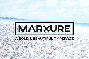 MARXURE Headline Typeface + WebFont